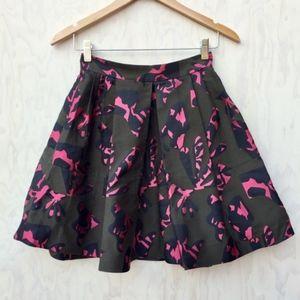 Banana Republic Olive Green Pink Jigsaw Skirt